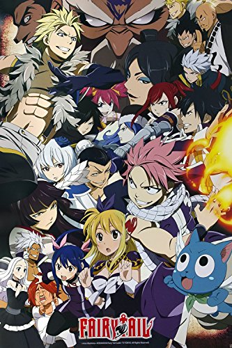 Fairy Tail - Anime TV Show Poster/Print (Fairy Tail vs. Other Guilds - Character Collage) (Size: 24 inches x 36 inches)
