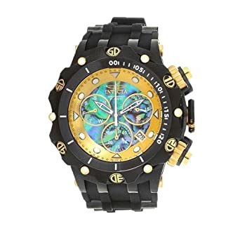 804bf4812 Image Unavailable. Image not available for. Color: Invicta Men's 26590 Venom  Quartz Chronograph Blue, Green, Gold Dial Watch