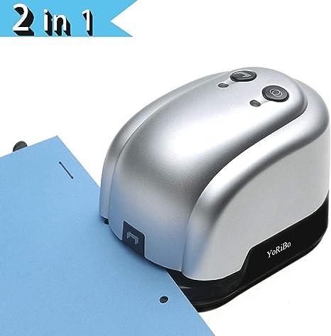 Grapadora eléctrica perforadora de escritorio de oficina grapadora ...
