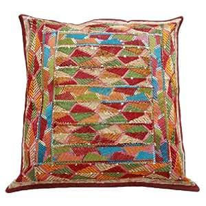 """Multicolor Cojín Case Decoración Patchwork indio bordado almohada cubierta 17 Regalo pulgadas """""""