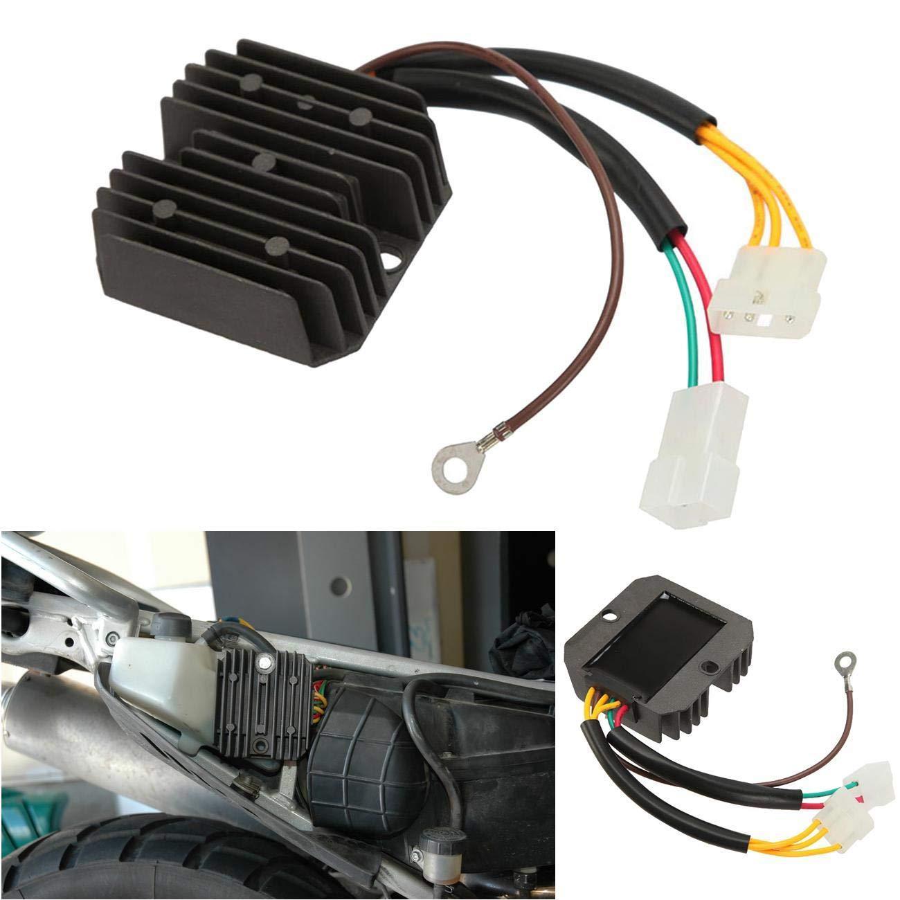 INNOGLOW Motorcycle Rectifier Voltage Regulator Fits for BMW F650 1997-2001 F650GS 1999-2011 G650 Xchallenge 2007-2010