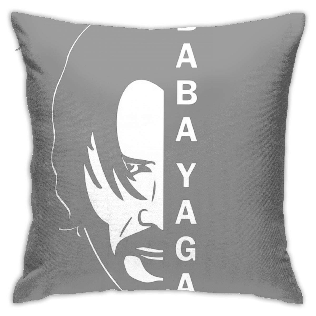 No Inserts Included fdgjfghjdfj Baba Yaga/&John Wick Pillow 18inch*18inch,Cushion Pillowcase Decorative Square Sofa Bedroom Car