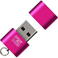 Demarkt® Adaptateur Convertisseur Expansion Adapter Micro SD Mémoire T-Flash Mâle Vers To USB2.0 OTG Femelle For Cellphone Android Interface Pour Téléphone Tablette Android HTC Samsung Huawei Pink 1PC