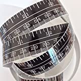 60'' Black Self Adhesive Vinyl Measuring Tape / Ruler Sticker Stickymeasure