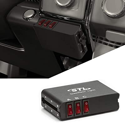 3 Switch Box Controller with 3 Panel Backlit LED Switch Box with 2 On/Off Rocker Switches and 1 Momentary Switches - A/B/C Control Box for Car. Truck, RV, Camper, Boat Rocker Switch Panel: Automotive