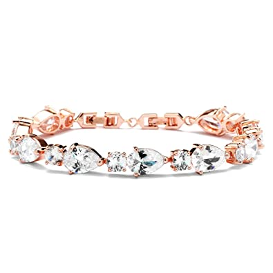Amazoncom Mariell Glamorous Rose Gold Bridal or Special Occasion