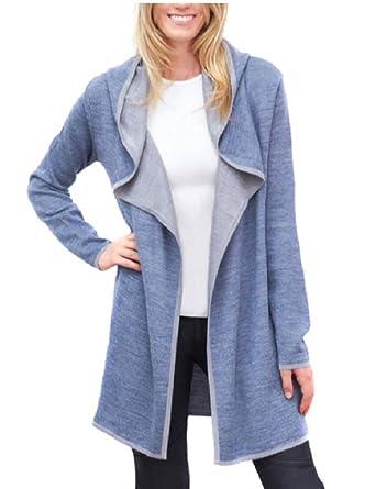 337ea3a2140e BNCI Blanc Noir Womens Hooded Wool Blend Cardigan at Amazon Women's  Clothing store: