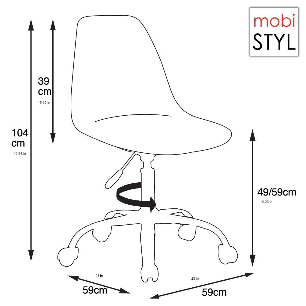 1 de MOBISTYL DSOA Chaise 1 Assise Simili Bureau Marron Cuir Hauteur Chrome roulettes CF x réglable kiZPuXO