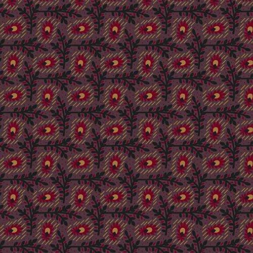 Marcus Fabrics Antique Cotton Old Plum Calicos by Pam Buda Trellis Plum (Fabric Trellis)