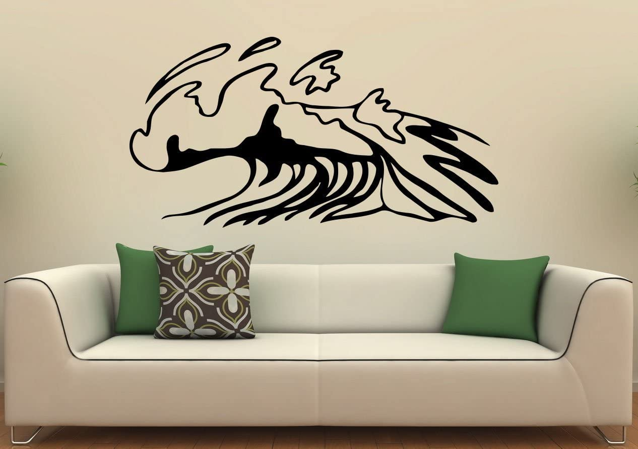 Nautical Design Wall Sticker Ocean Wave Vinyl Wall Decal Surf Art Home Bedroom Decor Beach Theme Sea Waves Wall Murals Ay1494 Wall Stickers Aliexpress