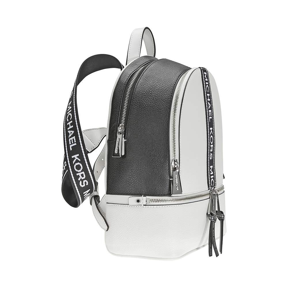 f9fce1da401c Amazon.com: Michael Kors Rhea Medium Logo Tape Backpack: Michael Kors: Shoes