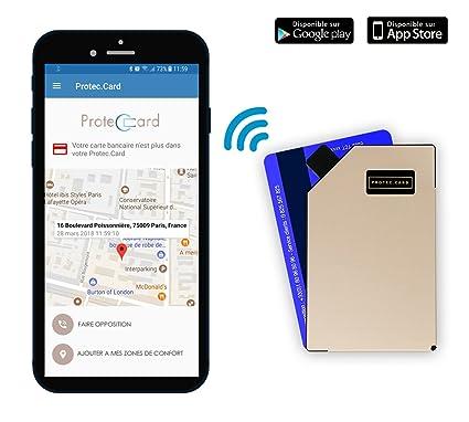 Protec Card Porte Carte Connecte En Aluminium Blocage Rfid