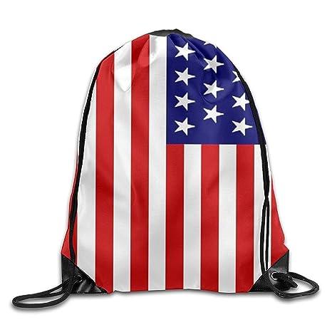 Shanzhi The American Bandera Personalizada Gimnasio con cordón Bolsas de Viaje Mochila Tote Mochila Escolar