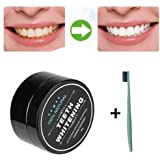 Toraway Natural Organic Activated Charcoal Bamboo Teeth Whitening Powder Toothpaste +1PC toothbrush