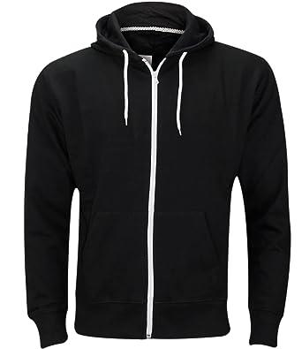 81360e840 Ladies Plain Hoody Girls Zip Top Womens Hoodies Sweatshirt Jacket Plus Size  6-22