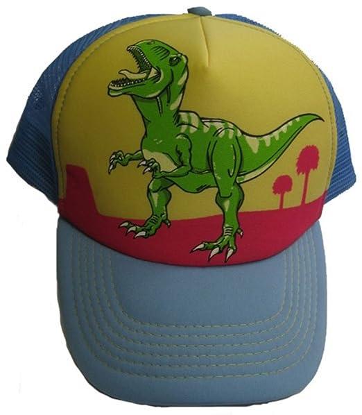 amazon adult size dinosaur hat cap tyrannosaurus baseball trucker adjustable strap blue yellow red sports outdoors jr the good
