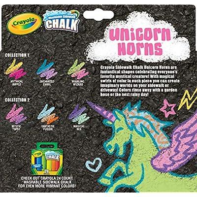 Crayola Unicorn Rainbow Sidewalk Chalk, 3Count, Unicorn Toy, Styles Vary, Gift for Kids, Age 4, 5, 6, 7: Toys & Games