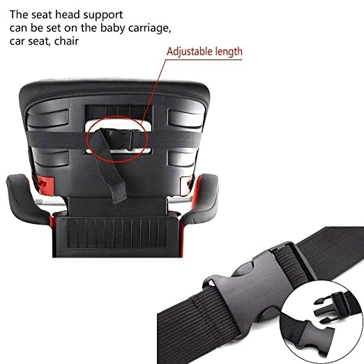 JZK 3 Soft Safety Baby Car Seat Head Support Strap Toddler Holder Belt Fastening Band