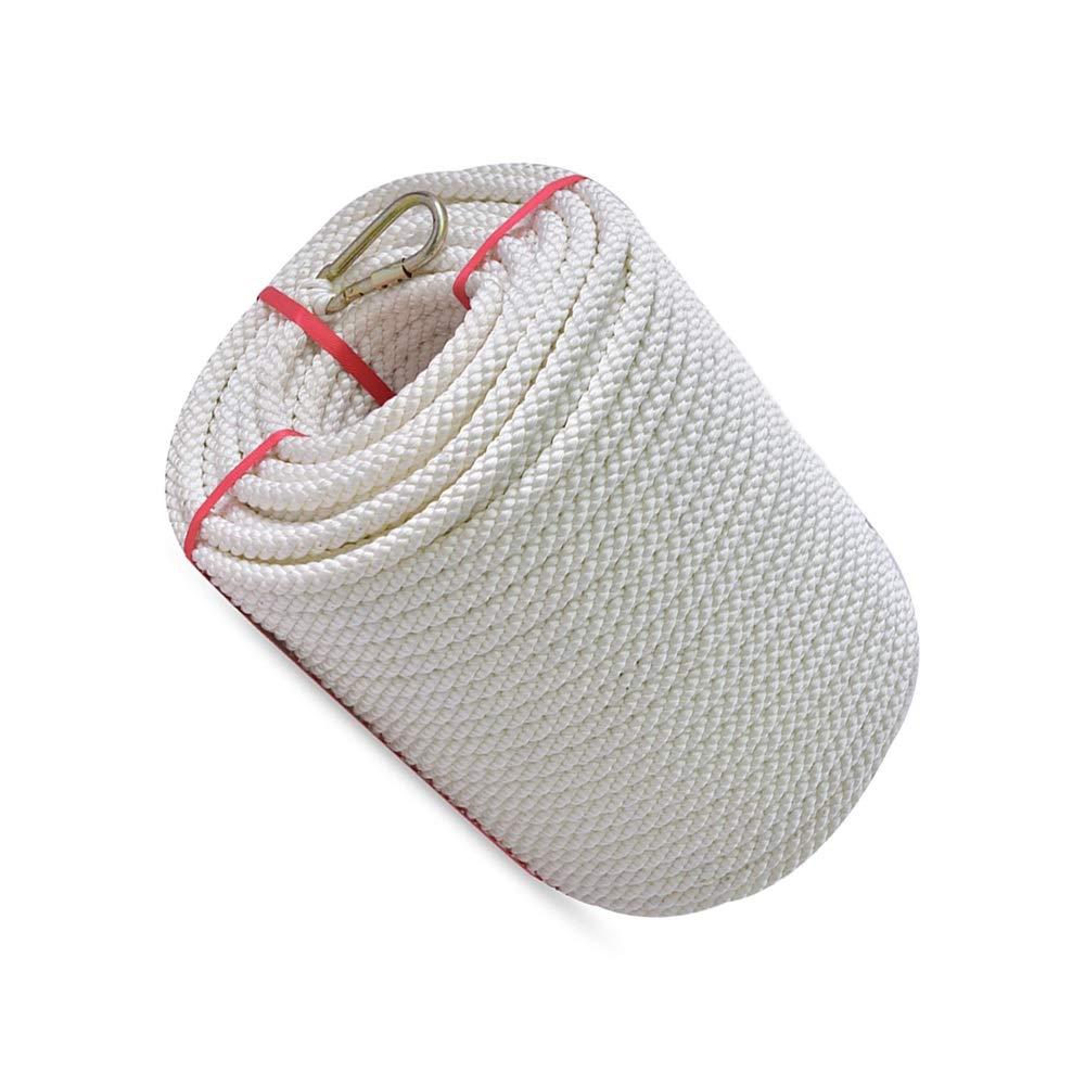 LIINA ロープ すべての機会のための18ミリメートルアウトドアクライミングロープ、白-25m / 50メートルコットンソフトと強力な日焼け止め防水帯電防止耐摩耗安全 (Size : 50m)  50m