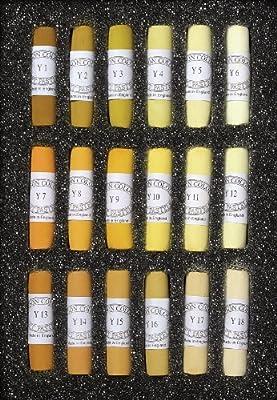 Jack Richeson Unison Yellow Gold Pastel Sticks, Set of 18, Shades 1 to 18