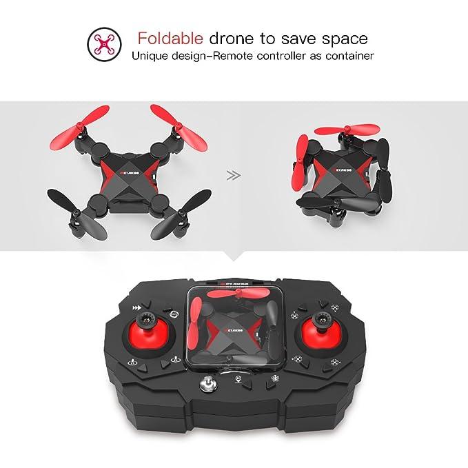 Metakoo Mini Drone APP Wifi FPV RC Quadrocopter Plegable con 0,3 ...