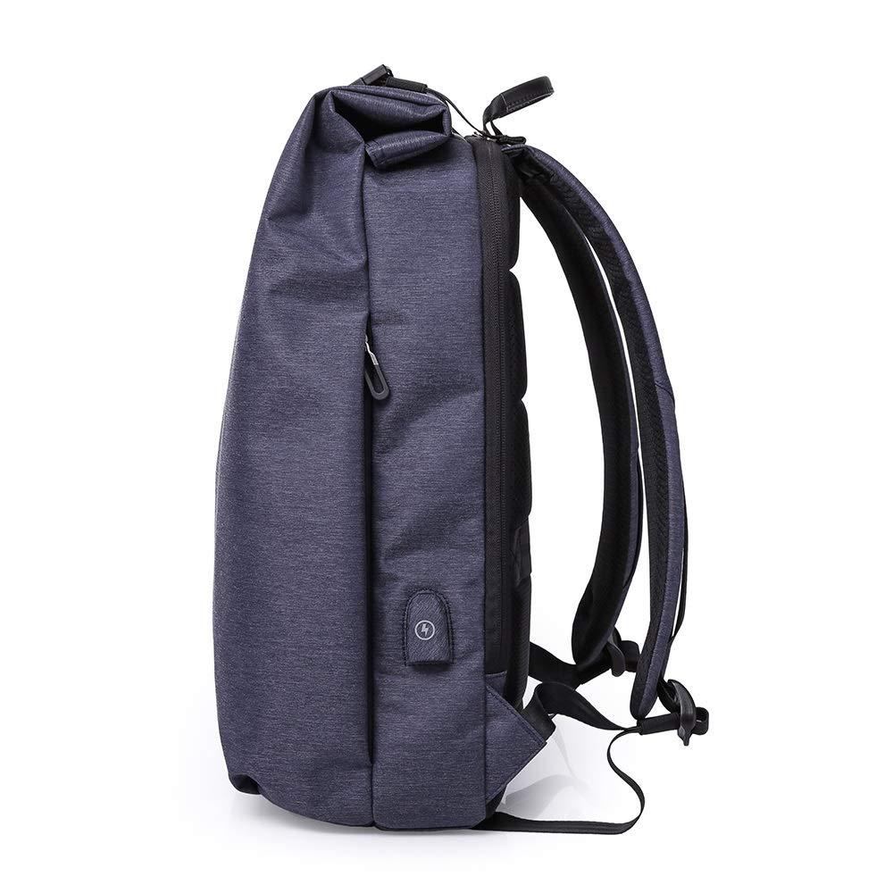 Ge aldrig upp herr stor kapacitet datorväska resa affärsryggsäck herr ryggsäck ledig vattentät ryggsäck (Färg: Blå) BLÅ