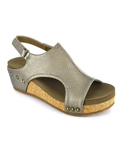 Footwear Wedge Volta Corkys Leather Sandal Women's tdxBQrhCs