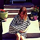 Bebebene - Full Nursing Cover Up - Also use as Scarf or Car Seat Cover - Black and Ivory Chevron