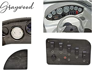 ABS sheets for boat instrument panels (Graywood)
