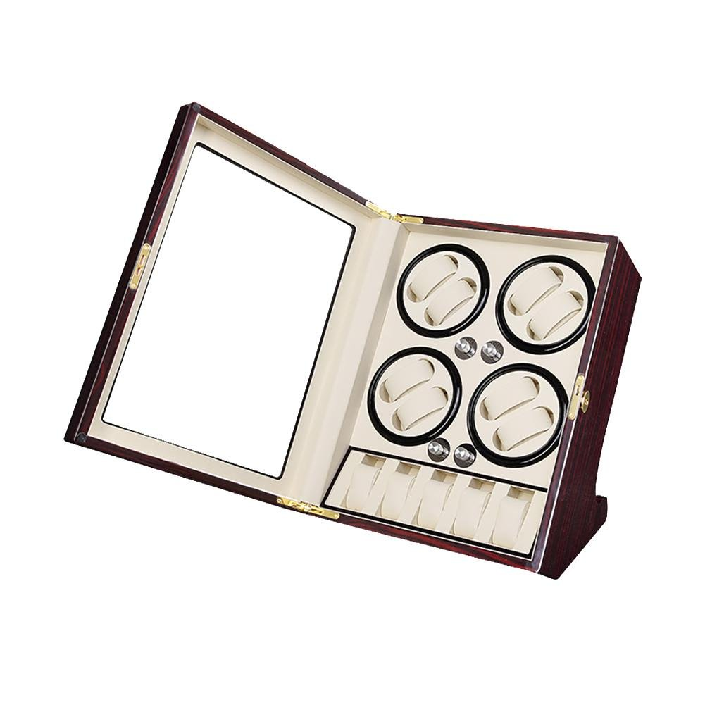 KAIHE-BOX Watch Winders for automatic watches Winder storages box Display Box Case (8+5) Quiet Mabuchi Motors , #10