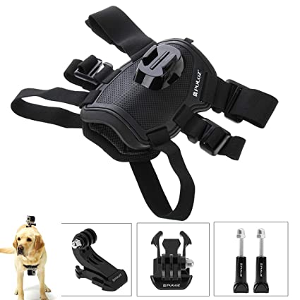 Egurs Arnés para Perros Cinturón Ajustable para el Pecho Soporte para el cinturón Montar el GoPro