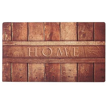 Rubber Indoor Doormat Rustic Entrance Welcome Mat 18X30 Heavy Duty Low  Profile Front Door Mat Home