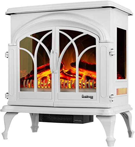 E Flame Usa 28 Xl Denali Portable Freestanding Electric Fireplace Stove 3 D Log And Fire Effect White Kitchen Dining