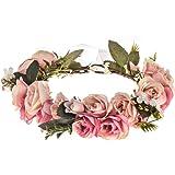DDazzling Women Flower Headband Wreath Crown Floral Wedding Garland Wedding Festivals Photo Props
