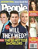img - for * THE 50 HOTTEST BACHELORS ISSUE * Tom Cruise, Brad Pitt, Matthew McConaughey - June 27, 2005 SPECIAL DOUBLE ISSUE People Magazine book / textbook / text book