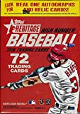 2016 Topps Heritage High Number Baseball Series Unopened retail Blaster Box of Packs with Possible Autographs and Game Used Relic Inserts