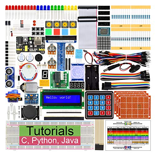 (Freenove Ultimate Starter Kit for Raspberry Pi 4 B 3 B+, 434 Pages Detailed Tutorials, Python C Java, 223 Items, 57 Projects, Learn Electronics and Programming, Solderless Breadboard)