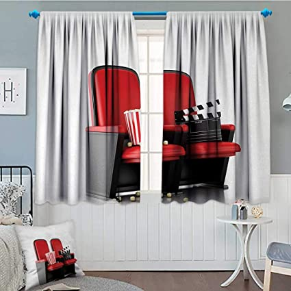 Surprising Amazon Com Anniutwo Movie Theater Window Curtain Drape 3D Bralicious Painted Fabric Chair Ideas Braliciousco