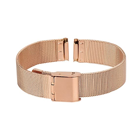 Amazon.com: Xuexy 14mm Pebble Time Round Milanese Wire Mesh ...