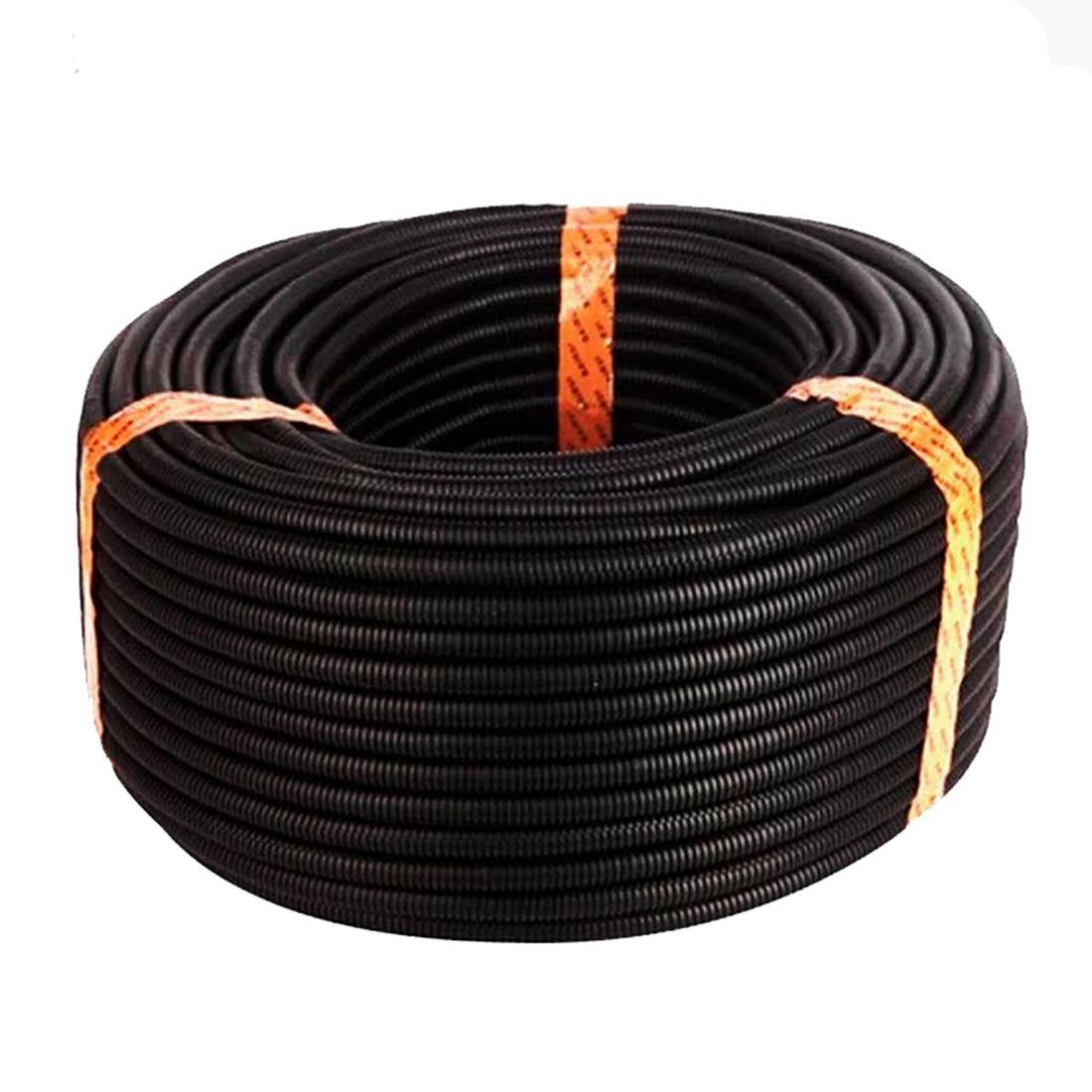 Cikuso 100 Ft. 3/4 inch Split Wire Loom Conduit Polyethylene Tubing Black Color Sleeve Tube