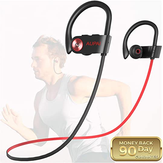 ede5e814845 Don't Miss This Deal on Bluetooth Headphones,AUPAI Sports Wireless Earbuds  HiFi Bass Stereo w/Mic,IPX7 Waterproof,8 Hours Long Play Time in Ear Headset,Good  ...
