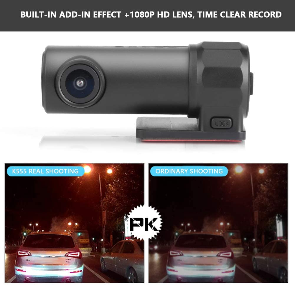 KIMISS WiFi Full HD 1080P Grabador de Video DVR para autom/óvil C/ámara de grabaci/ón de conducci/ón del Coche