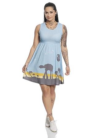 Star Wars - Vestido de Scarif, Color Azul: Amazon.es: Ropa y ...