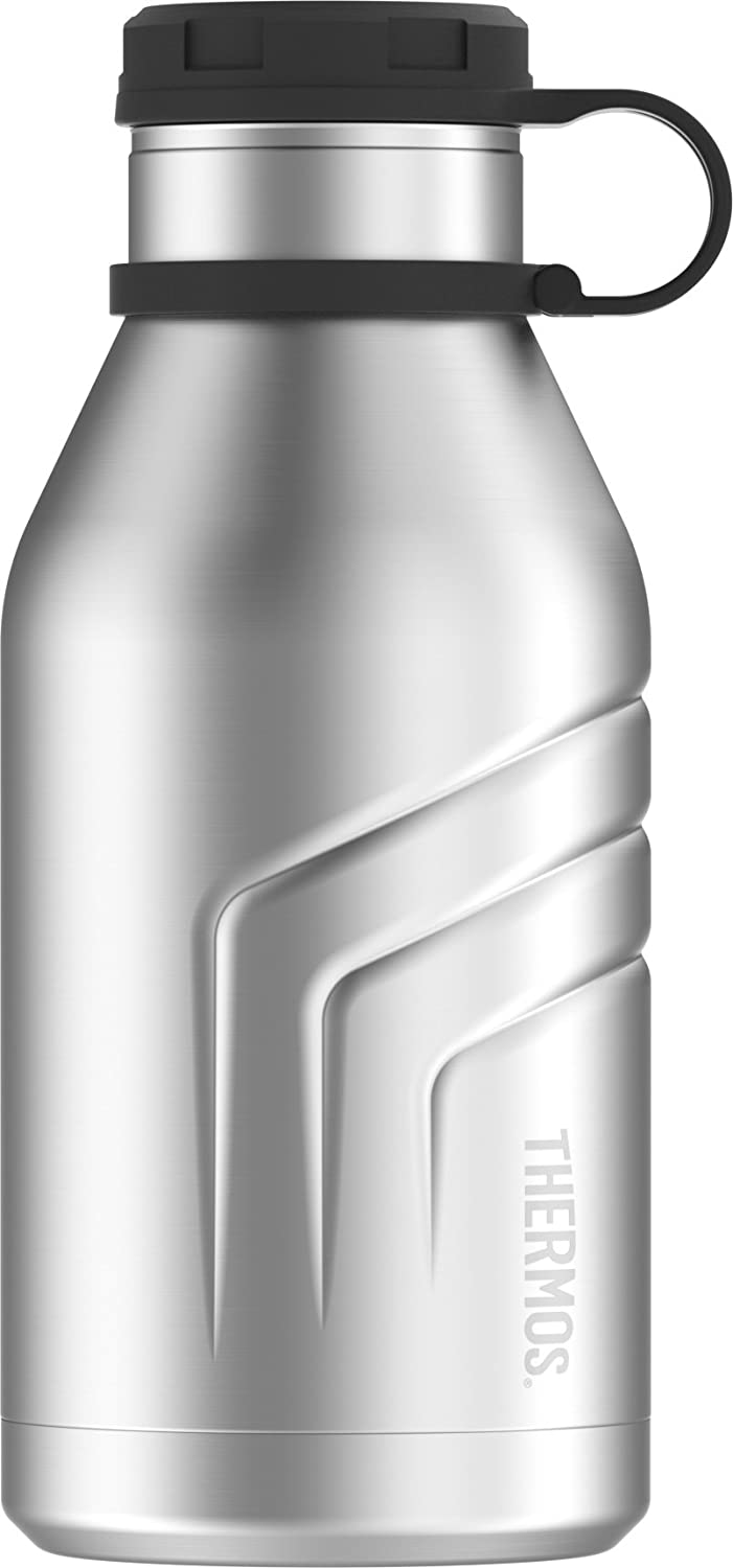 c647c713be Amazon.com: Thermos Element 5 Vacuum Insulated 32 oz Beverage Bottle with  Screw Top Lid, Stainless Steel: Kitchen & Dining