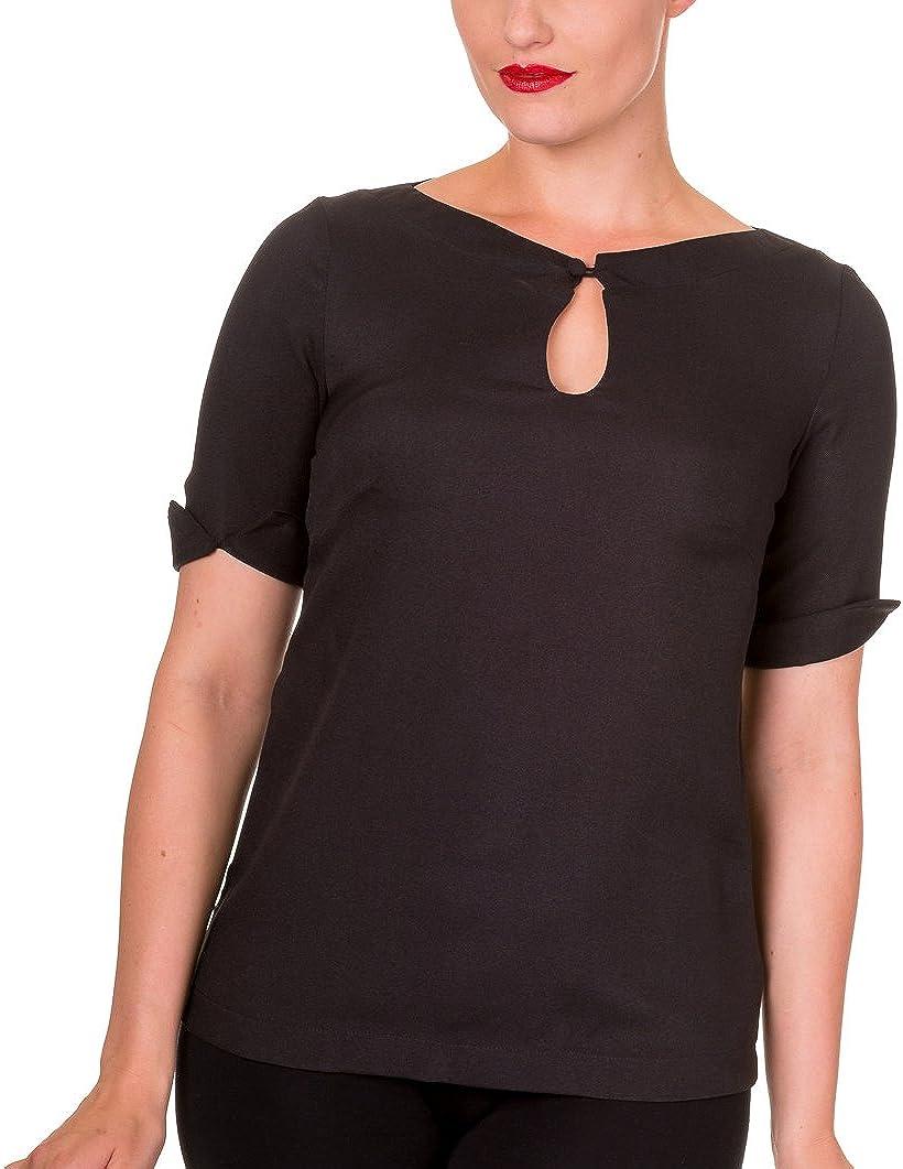 Banned - Camisas - para Mujer Negro X-Large: Amazon.es: Ropa y accesorios