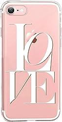 Girlscases®   iPhone 8/7 Hülle   Mit coolen Spruch Aufdruck Motiv   Love   Case transparente Schutzhülle   Farbe: weiß  