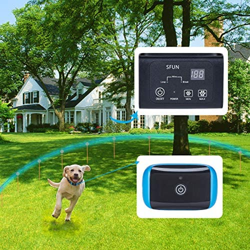 RZSAIDA Wireless Dog and Cat Containment System – Above Ground Electric Pet Fence,Waterproof, Tone and Static Correction, for Pets Over 8 lb