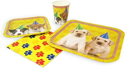Blue Orchards Puppy Standard Party Packs (65+ Pieces 16 Guests!), Puppy Party Supplies, Dog Themed Birthdays, Puppy Decorations