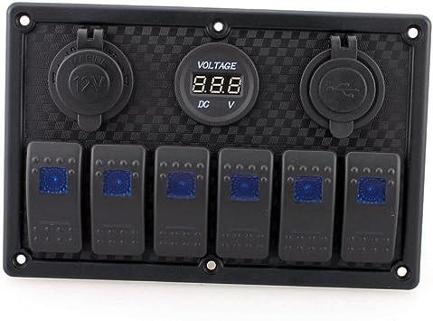 8 Gang LED Schaltpaneel Schalter Schalttafel Schaltpanel I1V6