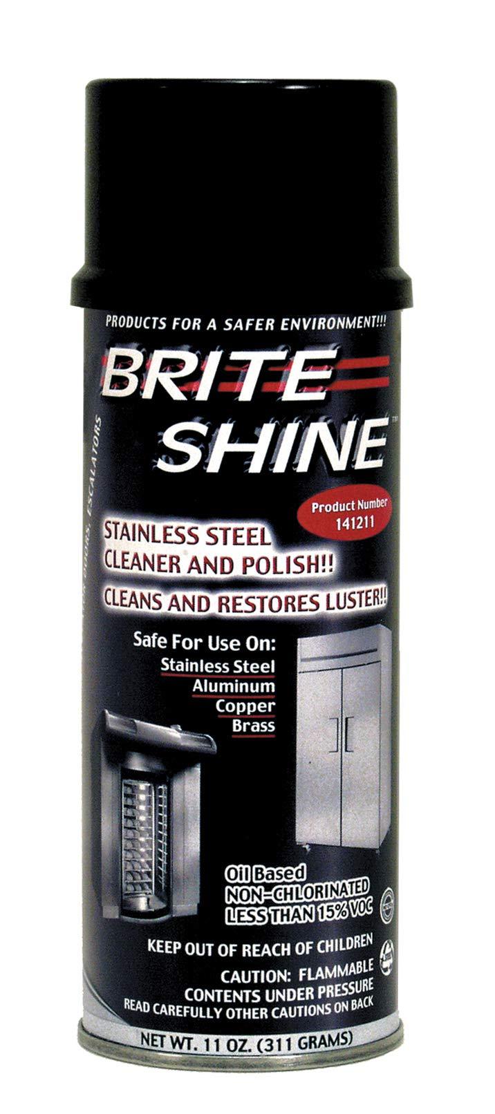 Brite Shine Aerosol Clean & Polish, 12 Case - 11 Ounce